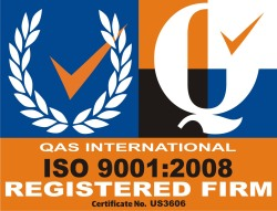 CERTIFIED QUALITY SYSTEM - ISO 9001:2008 cert. # US3606
