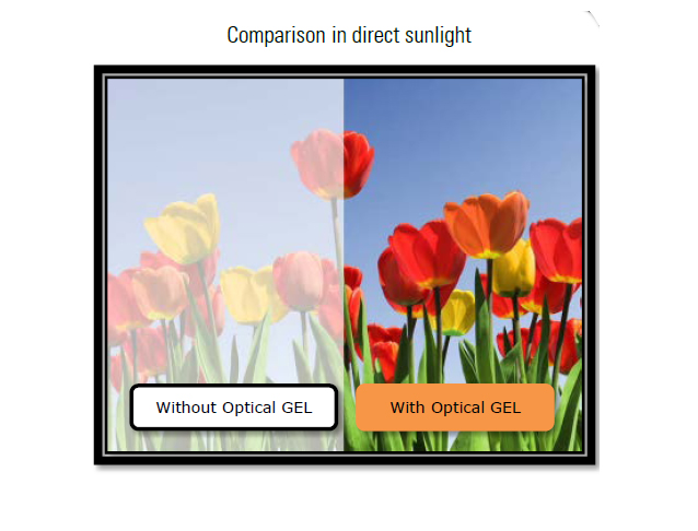 Vacubond® comparison in direct sunlight