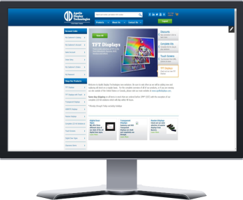 computer screen with web store